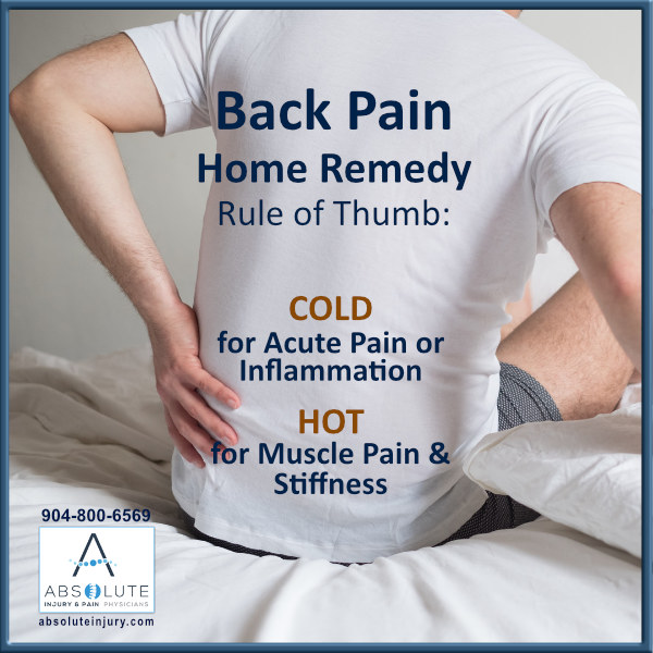 Back Pain Home Remedy: Cold for Acute Pain, Hot for Muscle Pain and Stiffness