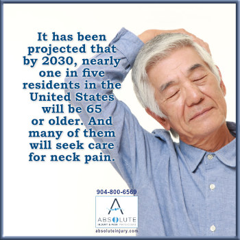 Older people suffer from neck pain