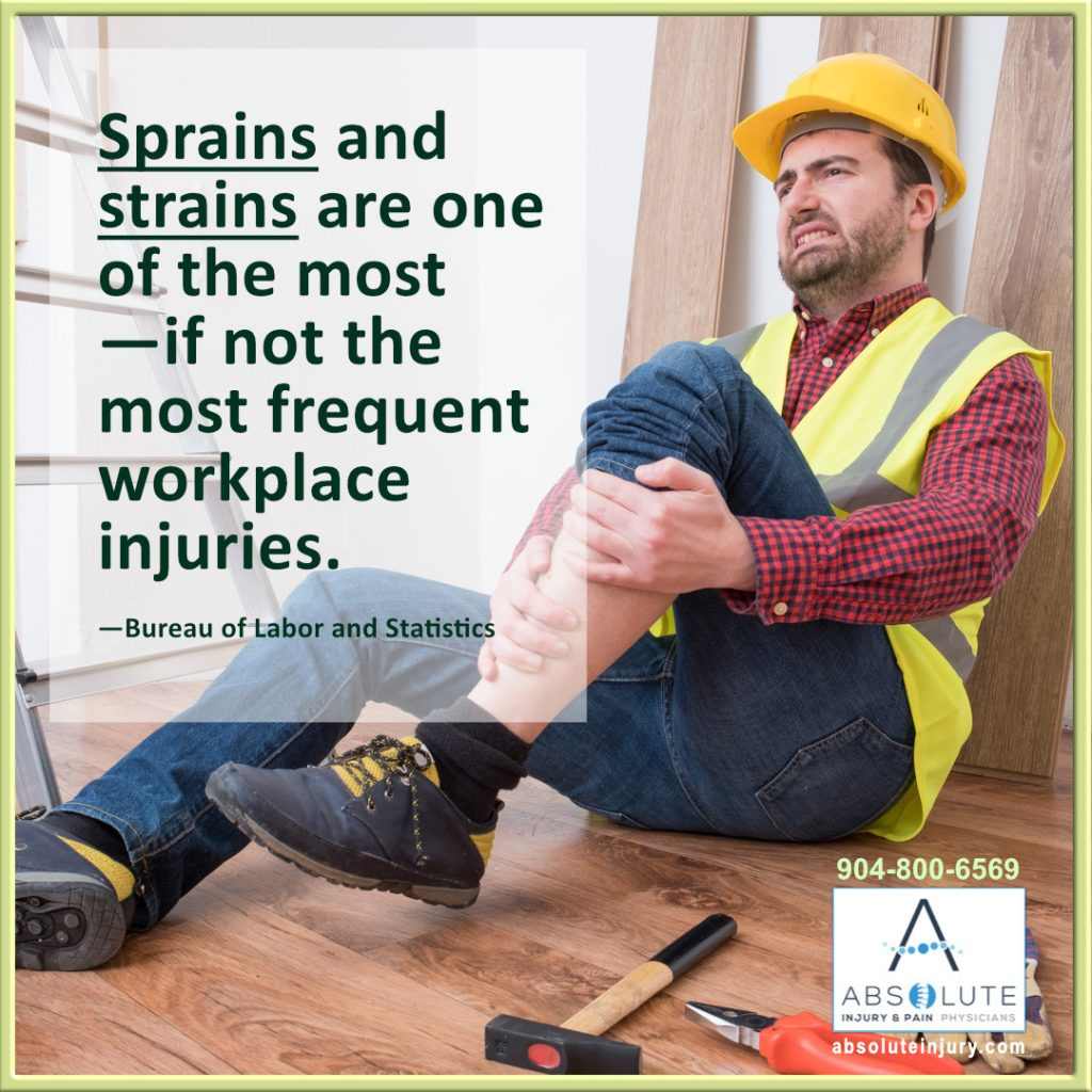 sprains and strains most common workplace injury