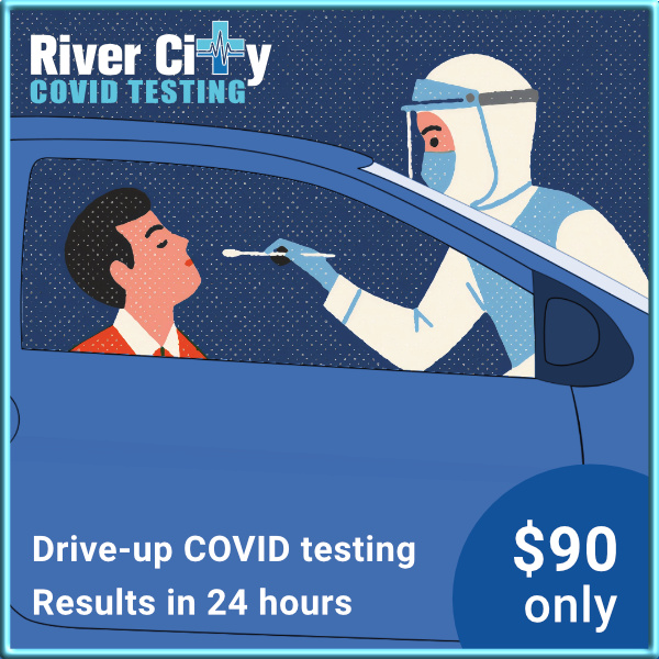 river city drive up covid testing